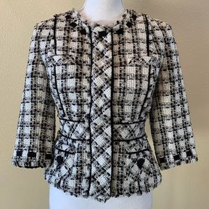Anthropologie tweed Elevenses lined jacket sz 8